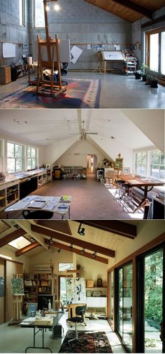 From Awesome workspaces for artists by PHILIPE KLING DAVID