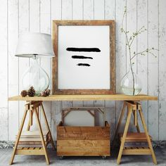 Abstract Art, PRINT, Modern Art, Black And White, Unique Wall Art, Printable Poster, Abstract Print, Three Lines Art, Teen Gift Ideas,Giclee by ShabbyShackStudio on Etsy