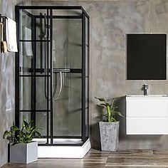 Brusekabine Bathlife Betrakta Rak 90 x 90 x 200 cm - home/mobel Shower Fittings, Spa Bathroom Design, Bathroom Design Black, Luxury Spa Bathroom, Bathroom Makeover, Best Bathroom Designs, Modern Bathroom, Bathroom Decor, White Master Bathroom