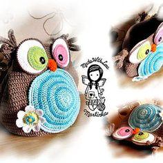 Crochet Bag Jolly Owl, Purse, Hand Bag,