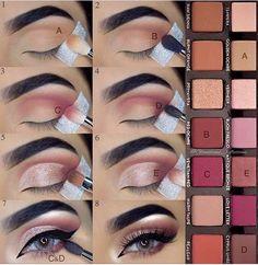 A step by step make-up & The post ABH Modern Renaissance Makeup Palette Eyeshadow Tutorial. A step by step make-up & appeared first on Trendy. Makeup Goals, Makeup Tips, Makeup Ideas, Makeup Hacks, Eye Makeup Tutorials, Make Up Tutorials, Makeup Stuff, Makeup Geek, Makeup Inspo