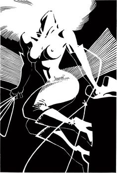 Skinny little Nancy Callahan. She grew up. She filled out. #sincity #frankmiller