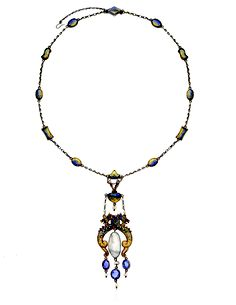 Necklace by Scottish Arts & Crafts artist James Cromar Watt. Shown in the exhibition International Art Jewelry: 1895-1925 curated by Elyse Zorn Karlin