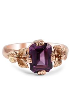 Rose Gold Alexandrite Ring. Hate the rose gold though. But it fits the stone.