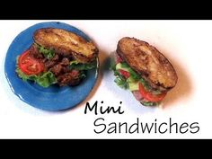 Simple B.L.T And Ham & Cheese Sandwich - Polymer Clay Tutorial - YouTube