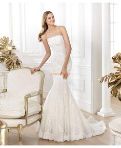 2014 Moderne Brautkleider Meerjungfrau aus Spitze und Satin