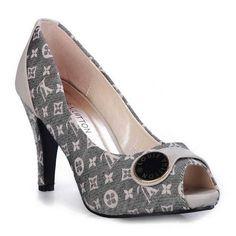 Sales Louis Vuitton Monogram Idylle Mid Heel Open-Toe Pump In Encre-$125