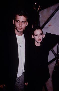 Winona Rider and Johnny Depp (1990)