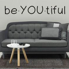 Be YOU Tiful Wall Decal Sticker | Mpressvinyl