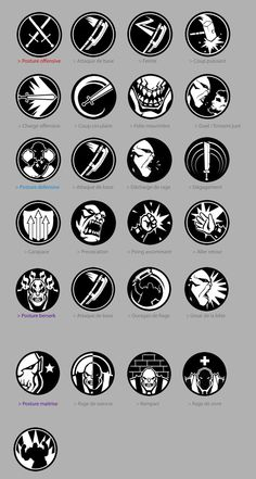 OF ORCS AND MEN - Icons and Achievement Designs by Alexandre Chaudret, via Behance