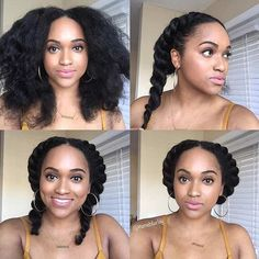 Two Flat Twists into a Updo Tutorial
