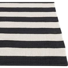 Olin Black Rug in Area Rugs | Crate and Barrel