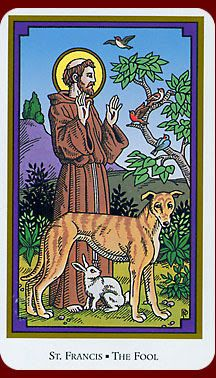 o. The Fool (St. Francis) - Tarot of the Saints by Robert M. Place