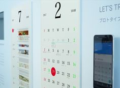 kosho tsuboi blur the analog and the digital with 'magic calendar'—a display made from high resolution electronic paper that and syncs with google calendar from your mobile device.