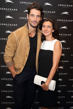 London Flagship Store Grand Opening - September 14th 2013 - Sophie Delafontaine with David Gandy