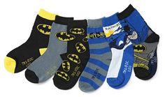 ThinkGeek :: Batman Toddler Socks 6-Pack