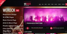 30 Premium Responsive HTML Entertainment Website Templates