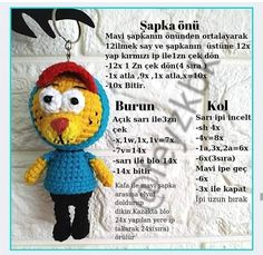 Tweety, Crochet Hats, Fictional Characters, Amigurumi, Knitting Hats, Fantasy Characters