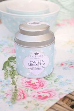 Vanilla Lemon tea tin