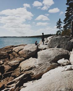 oh maine  beautiful hike (with a wee bit of good ol' fashioned trespassing ) at birch point today. So many mushrooms popping up in the woods after the rain  spongy green moss carpets and the sparkling sea lapping against the smooth granite  yup today was  #maine #fareisletravels #slowliving #adventureswithiley
