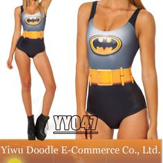 2014 new arrival BATMAN CAPE SUIT hot sexy fashion black milk one piece swimwear bathing suits Swimsuit for women print $11.99