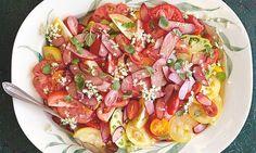 Yotam Ottolenghi's tomato, rhubarb and elderflowersalad.