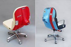 Sporty Office Chairs Made from Old Scooter Parts