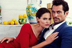 David Gandy and Bianca Balti for Dolce & Gabbana #LightBlue #New #2015