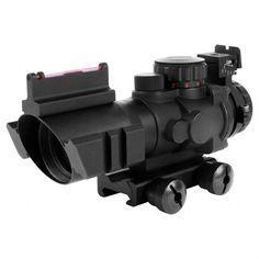 AIM® Sports 4x32 Tri-Illuminated Scope With Red Fiber Optic Sight