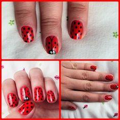as unhas decoradas Joaninha