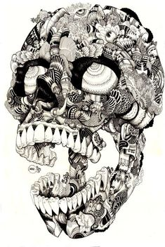 The Iain Macarthur 'Skulltastic' Series is Textured #skulls #skullart