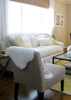 love sheepskin. love saving money. a great DIY :) from Young House Love