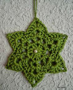 TresP craft blog: CON PATRÓN: ESTRELLA DE CROCHET free star pattern