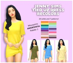 Sims 4 Maxis Match CC finds for you daily. Sims 4 Cc Packs, Sims 4 Mm Cc, Sims 1, Tie Up Dress, Sims 4 Dresses, Sims4 Clothes, Play Sims, The Sims 4 Download, Sims 4 Cas
