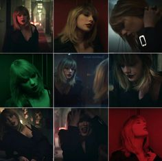 Taylor Swift I DON'T WANNA LIVE FOREVER collage.