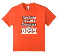 9ef9c1404 unisex-child Rocking This Extra Chromosome Like Boss Down Syndrome shirt 8  Orange