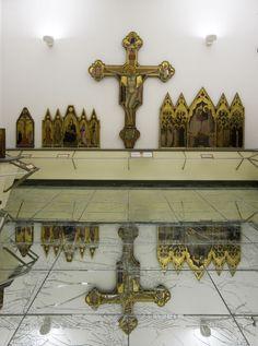 Alfredo Pirri, Passi, 2011, installazione con specchio MirrorSafe, opera in Arte torna arte, Galleria dell'Accademia, Firenze, 2012©Rabatti & Domingie, Firenze_3