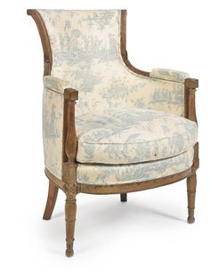 A Directoire carved beechwood bergère circa 1790 | Lot | Sotheby's