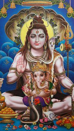 Shiva, Parvati with Ganesha (Reprint on Paper - Unframed) Shiva Parvati Images, Shiva Photos, Lord Shiva Hd Images, Durga Images, Arte Shiva, Shiva Art, Lord Shiva Hd Wallpaper, Lord Vishnu Wallpapers, Shiva Shankar