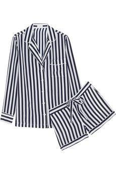 Equipment Lilian striped washed-silk pajama set | NET-A-PORTER