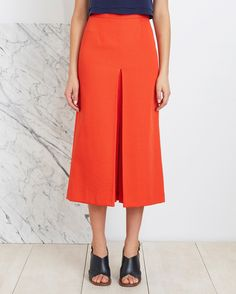 Apiece Apart | Isabel Double V Skirt in Persimmon