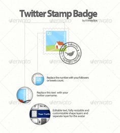 Twitter Stamp Badge $2.00