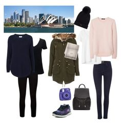 Sydney in a carry on: daytime outfits Winter Travel Packing Outfits, Daytime Outfit, Blue Sweaters, Long Sleeve Sweater, Carry On, Sydney, Winter Outfits, Fashion Looks, Polyvore