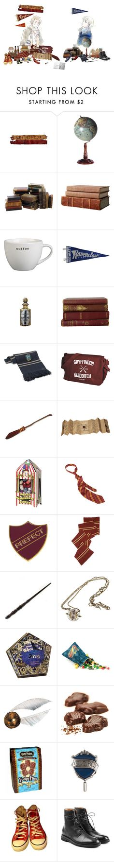 """""""hogwarts love"""" by ne-ram on Polyvore featuring WALL, Authentic Models, Crate and Barrel, CO, Emma Watson, Bertie, Dylan's Candy Bar, Converse, Maison Margiela and men's fashion"""