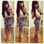 Printed Pensil Skirt