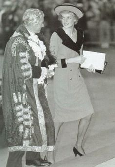 1988-10-19 Diana attends the Annual National Service for Seafarers at St Paul's Cathedral