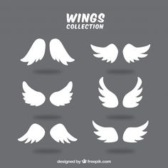 Discover thousands of copyright-free vectors. Graphic resources for personal and commercial use. Thousands of new files uploaded daily. Wings Sketch, Wings Drawing, Guy Drawing, Swan Wings, Angel Wings, Eagle Icon, Angel Vector, Cute Cartoon Drawings, Baby Boy Decorations