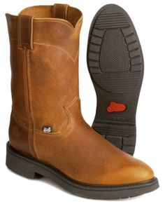 Justin J-Max Pull-On Western Work Boots - Steel Toe available at ...
