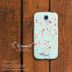 Floral Samsung galaxy S3 case, Samsung galaxy S4 case, Samsung galaxy S2 case, Samsung Note 2 case, mint tiffany pink sakura S604