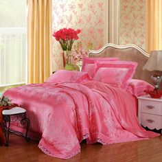 Factory Direct Sale High Grade Wedding Gift Luxury Tencel Modal Cotton Brick Red Jacquard Bedding Set Bed Suite King Queen Size Bedding Bag Shabby Chic Bedding Bedspread From Mrlv2014, $108.22| Dhgate.Com